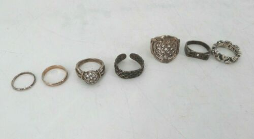 Lot of (7) Sterling Silver Rings - 30.60 Grams