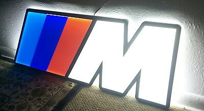 BMW M3 SIGN LIGHTED NEON 3D MOTORCYCLE CAR SPORT GARAGE RACING