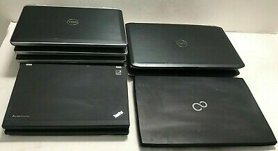 JOBLOT x 9 DELL, LENOVO i3,i5,i7 LAPTOPS TESTED WORKING