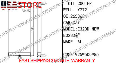 E320d Core As- Oil Cooler Hydraulic Fits For Caterpillar Cat E320dl 321d505mm