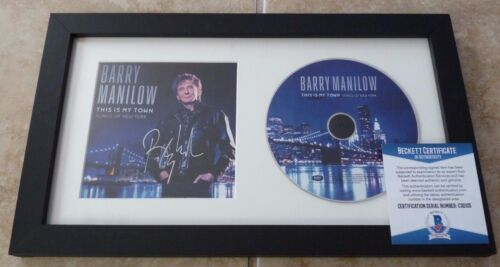 Barry Manilow This Is My Town Signed Auto Framed CD Display BECKETT Certified