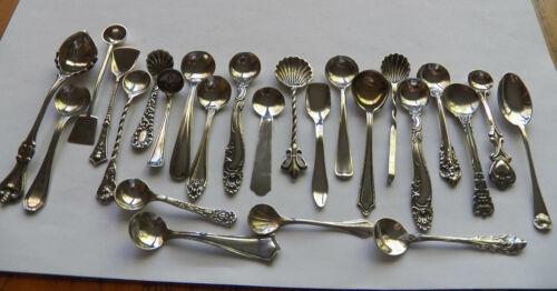 25 Sterling Salt Spoons Kirk Stieff Gorham H205 Gold Wash Various Sizes Free Sh.