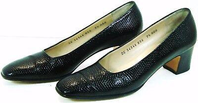 Clothing, Shoes & Accessories Salvatore Ferragamo Kitten Heel Pump Size 7.5 Aaa Blue Leather