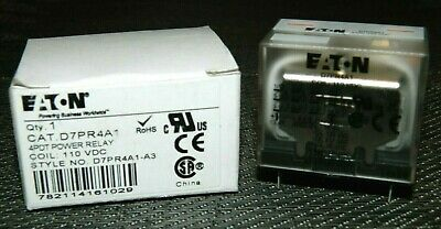 New Eaton Relay D7pr4a1 4pdt Power Relay 110 Vdc Coil