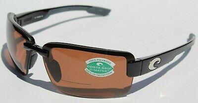 COSTA DEL MAR Galveston POLARIZED Sunglasses Bifocal 2.00 C-Mates Black/Copper