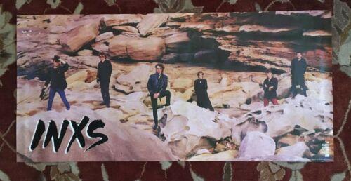 INXS  Listen Like Thieves  rare original promotional poster  MICHAEL HUTCHENCE