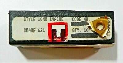10 Pieces Rtw 16nr 14acme 621 Carbide Inserts  H535