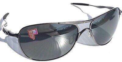 NEW* Oakley Crosshair Matte LEAD Silv POLARIZED BLACK Iridium Sunglass 4060-06 for sale  Temecula