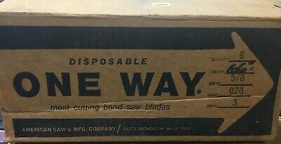 6 Replacement Meat Cutting Band Saw Blade One Way 66 X 58 Gage 20 Teeth 3