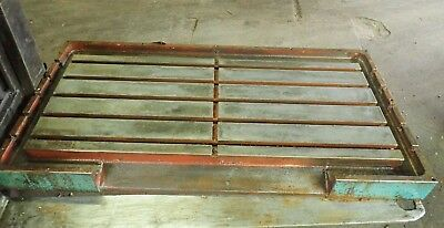 55.5 X 27 X 2.5 Steel Weld T-slot Table Cast Iron Layout 5 Slot Jig