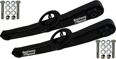 New Sws 1959 1964 Chevy Lower Rear Trailing Arms Impala Black Powder Coated Pair