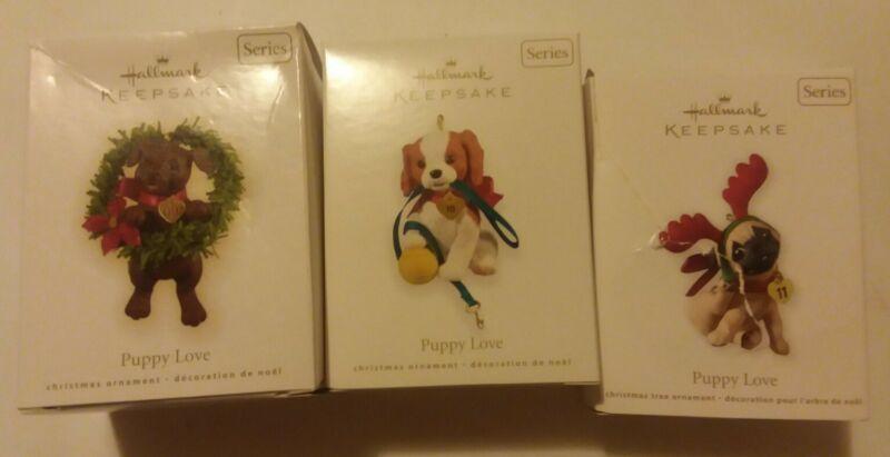 Hallmark Ornament SERIES Puppy Love 2009-2011 #