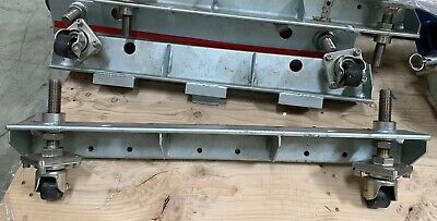 Industrial Truss Dolly W Sisiku Swivel Casters And Machine Frame Lot Of 2