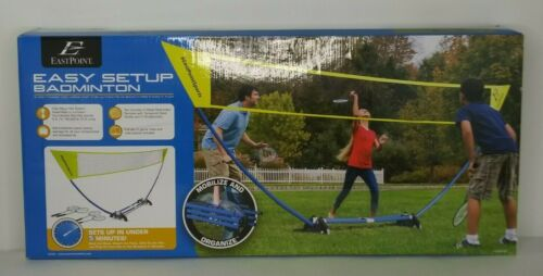Eastpoint Badminton Set Easy Setup Indoor/Outdoor Quicksetup