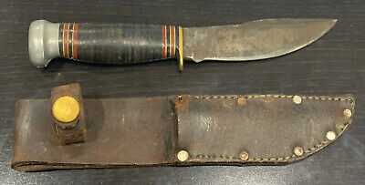 "Vintage Marble's Gladstone, Mich. 8-1/4"" Fixed Blade Knife w/ Original Sheath"