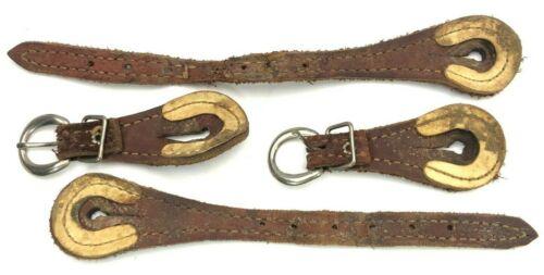 Vintage Spur Straps Matched Pair Leather 6045-M