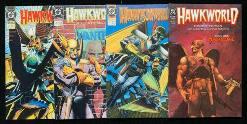 HAWKWORLD Mini Series 1 + Regular Series 1-3 Near Perfect  Hawkman  (DC Comics)