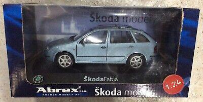 1:24 Modell Skoda Fabia 6Y Kombi Estate 2000 Mk1 Hellblau Druckguss Abrex Auto