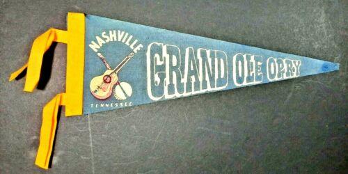 Vintage felt pennant Nashville, Tennessee Grand Ole Opry  pre-owned