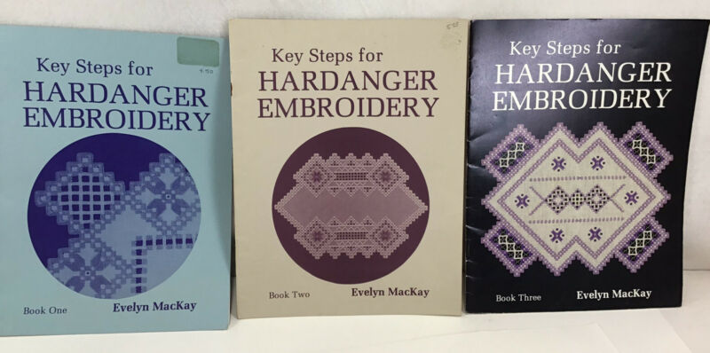 Key Steps for Hardanger Embroidery Books 1, 2, And 3 by Evelyn MacKay