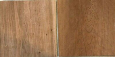 4 Cherry Wood Veneer Raw 12 X 12 1 X 1 Sheets Pieces Art Furniture 138