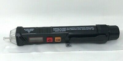 Tacklife - Vt02 - Non-contact Ac Voltage Tester Detector - Black