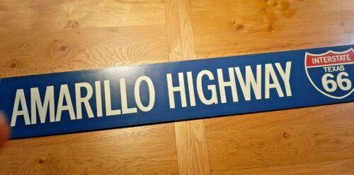 Vintage Amarillo Highway Sign Texas Garage Mancave Bar Pub USA