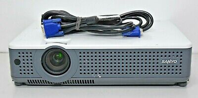 Sanyo PLC-XU75 2500 ANSI Lumens 3LCD Projector 585 Used Lamp Hours
