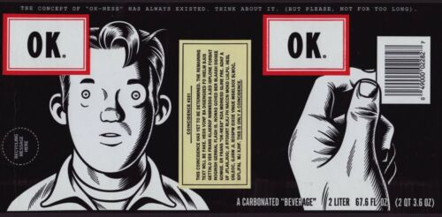 Coca-Cola Collectible OK Soda 1994 Retro Art Bottle Label
