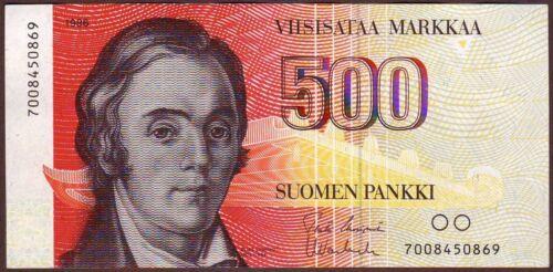 FINLAND  500 Markkaa  1986   w/o Litt.   AU/UNC