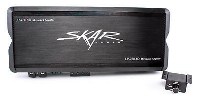 NEW SKAR AUDIO LP-750.1Dv2 MONOBLOCK 1500W CLASS D MOSFET SUBWOOFER AMPLIFIER