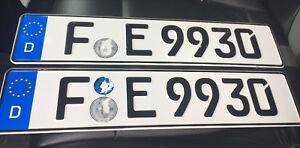 Matching pair of German License plates actual license plates