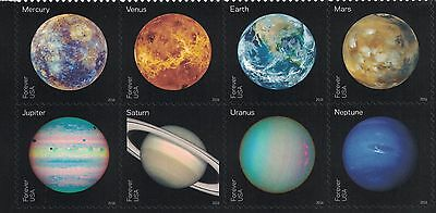 VIEWS OF OUR PLANETS ~ SOLAR SYSTEM  2016 U.S. Space Stamps  #5069-5076  MINT