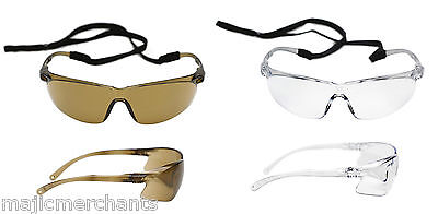 3M Tora Anti Fog Scratch Safety Sun Glasses PPE Spectacles Shooting Fishing Work