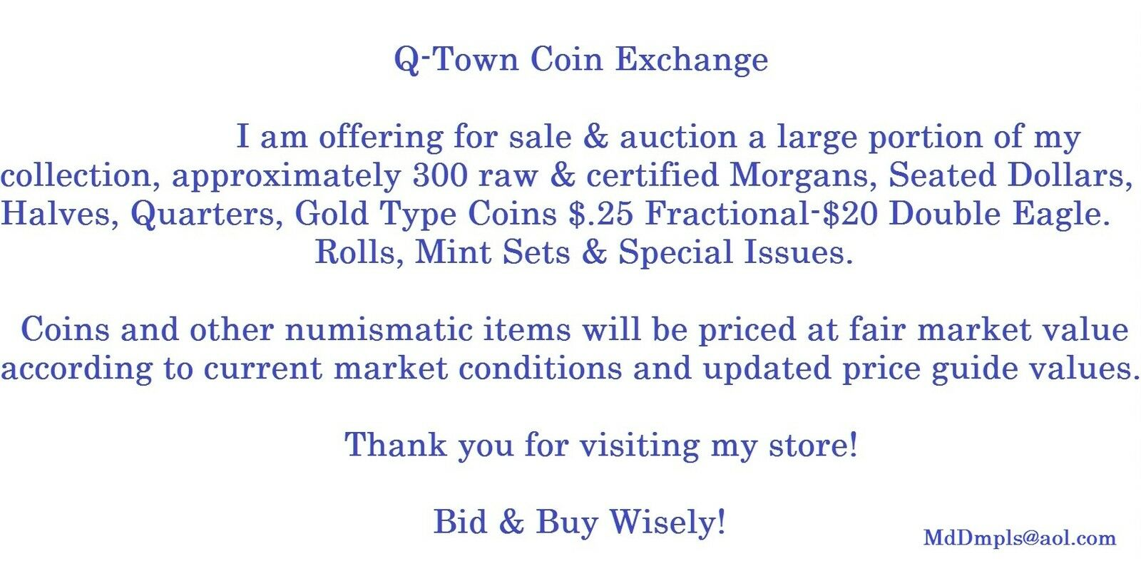 Q-Town coin exchange