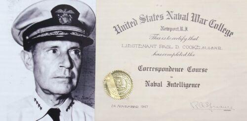 Admiral Raymond A. Spruance Prominent WW II Naval Commander Autograph