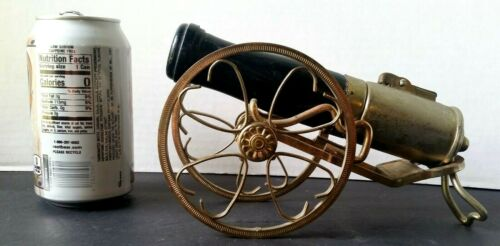 Vintage Cannon Wick Type Cigarette Lighter -Brass & Wood