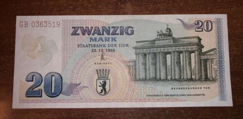 Germany 20 Mark 1989 DDR  banknotes reproduction copy  with watermarks