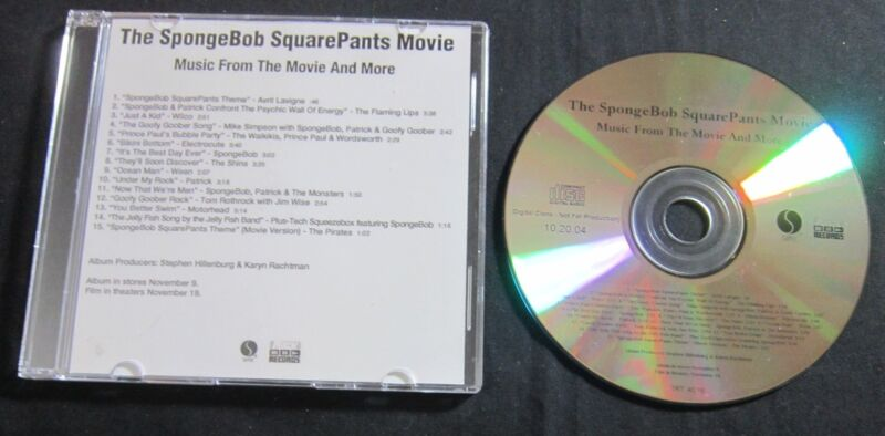 FLAMING LIPS/MOTORHEAD 'SPONGEBOB SQUAREPANTS MOVIE OST' 2004 ADVANCE CD