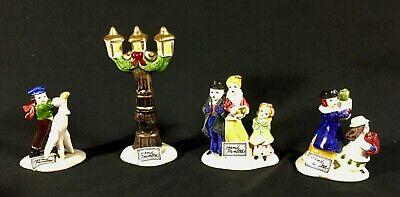 NIB Vintage Dickens Christmas Ornament Carolers SET OF 3 + Lamppost Korea