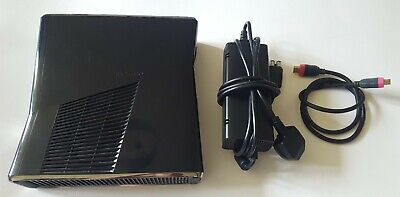 MICROSOFT XBOX 360 S GAMES CONSOLE 250GB BLACK POWER BRICK SUPPLY HDMI LEAD