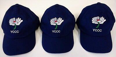 Yorkshire CCC Navy Blue Baseball Style Cricket Cap,Adult Size @ £10.95p Each !