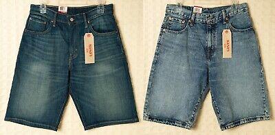 LEVI'S Jean Shorts LOOSE STRAIGHT 569 100% Cotton Denim Blue Jeans Mens 33 34 -