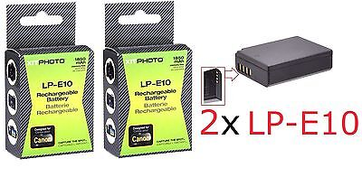 Hi Capacity 2-Pcs LP-E10 Li-Ion Battery Pack For Canon EOS Rebel T3 T5
