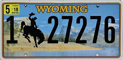 Wyoming  License Plate. Original Nummernschild  USA  27276*  ORIGINALBILD