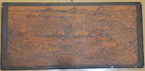 Antique Map Detail From Plate of Jerusalem 1486 Bernhardt von Breydenbach