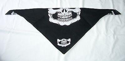- 1 piece Skull Jaw Bone Bandana Face Mask Paintball Biker Scarf Head Wrap  NEW :)