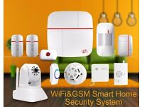 ABTO Vcare Wireless Wifi GSM Home Security Alarm System Automatic with Smoke Fire Detector