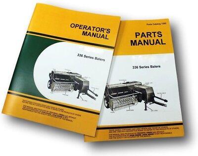 OPERATORS PARTS MANUAL SET FOR JOHN DEERE 336 SQUARE BALER CATALOG TWINE & - Parts Catalog Operators Manual