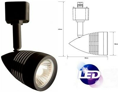 GU10 Track Cool White LED Single Circuit Mains Retail Shop Fixture Spot Light (Cw Led Track Fixture)
